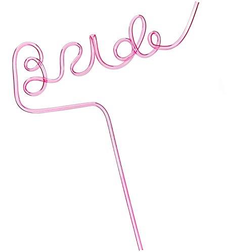 Cavore Bride Strohhalm XL pink für Braut - Deko Accessoires für JGA Junggesellinnenabschied und...