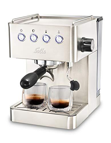 Solis Barista Gran Gusto 1014 Kaffeemaschine - Espressomaschine mit Dampf- und Heißwasserfunktion -...