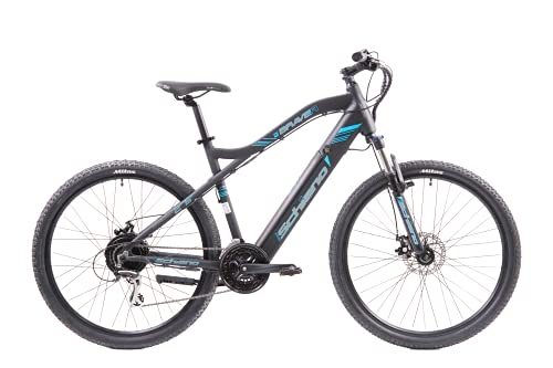 F.lli Schiano Unisex-Adult Braver E-Bike, Schwarz-Blau, 48cm