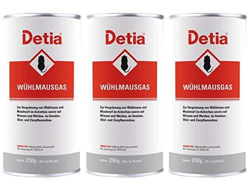 Detia Wühlmausgas 750 g - Vergrämungsmittel gegen Wühlmäuse und Maulwürfe. Keine Wartezeiten....