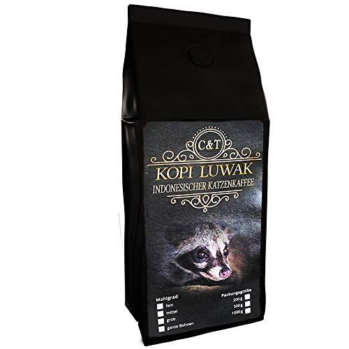 Kaffee Rarität Geschenk Katzenkaffee Kopi Luwak Arabica 200 g ganze Bohne zum verschenken frisch...
