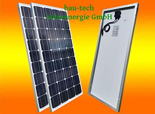bau-tech Solarenergie 2 Stück 130Watt Solarmodul Solarpanel Photovoltaik Solarzelle 130W 12V...