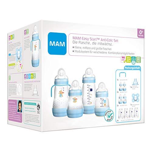 MAM Easy Start Anti-Colic Babyflaschen Set, mitwachsende Baby Erstausstattung mit Schnuller,...