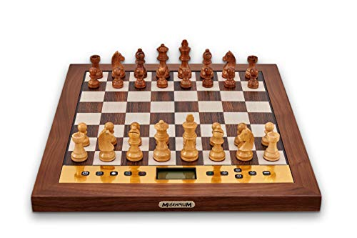 MILLENNIUM The King Performance - Schachcomputer für Ästheten. Mit Echtholz-Rahmen, Holzfiguren...