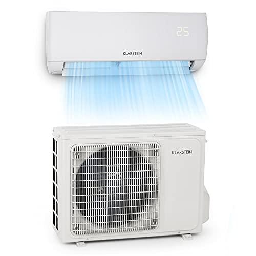 Klarstein Windwaker - Split-Klimaanlage, selbstreinigend, Fresh Air- und Golden Fin Technology, Long...