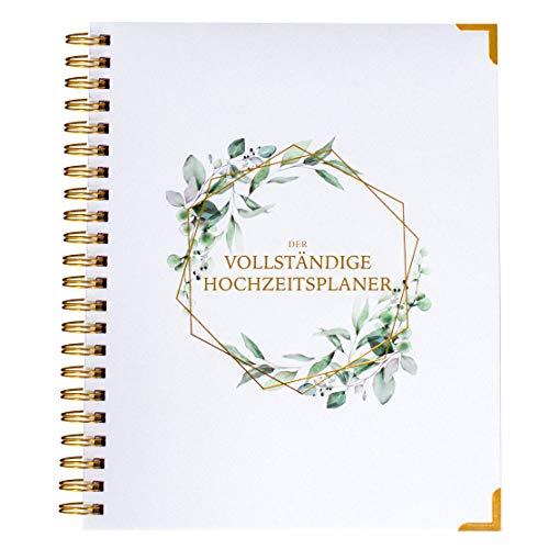 Hochzeitsplaner Deutsch Organizer Buch & Hochzeit Kalender Blumendesign - German Wedding Planner