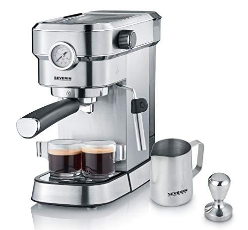 SEVERIN Espressomaschine 'Espresa Plus', Siebträgermaschine mit 3 Einsätzen, Kaffeemaschine mit...