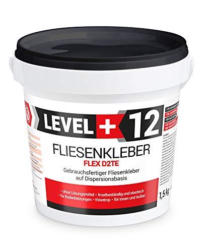 1,5kg Fertig Fliesenkleber Steinkleber Flexmörtel Weiß Innen Außen Dispersions-Kleber RM12