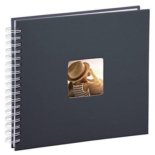Hama Fotoalbum 28x24 cm (Spiral-Album mit 50 weißen Seiten, Fotobuch mit Pergamin-Trennblättern,...