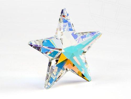 Anhänger von Swarovski Elements 'Stern'  40mm (Crystal-AB), 1 Stück
