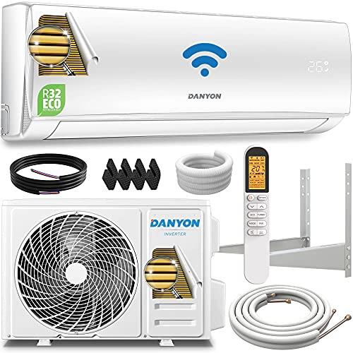 Danyon Premium Split-Klimaanlage Set - für 55 qm, 12000 BTU, 3,4 kW, Titangold, Smart Home, W-LAN,...