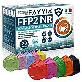 20St. ffp2 masken, 5-lagig schutz ffp2 maske bunt, ffp2 maske ce zertifiziert CE 2233, ffp2 maske...
