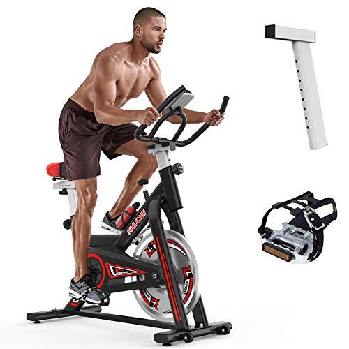 SHUOQI Heimtrainer Fahrrad, Fitnessgeräte Für Zuhause, Indoor Spinning Bikes, 6-Fach Einstellbare...