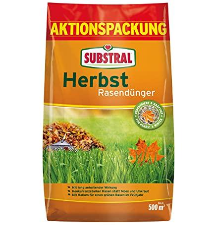 Substral Herbst Rasendünger, kaliumreicher Spezial-Rasendünger mit lang anhaltender Wirkung für...