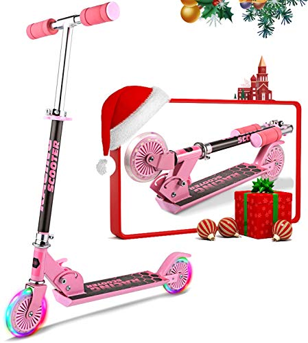 Oppikle Scooter Kinder Roller Tretroller Cityroller Kick Scooter Klappbar Mit Led Big Wheel...