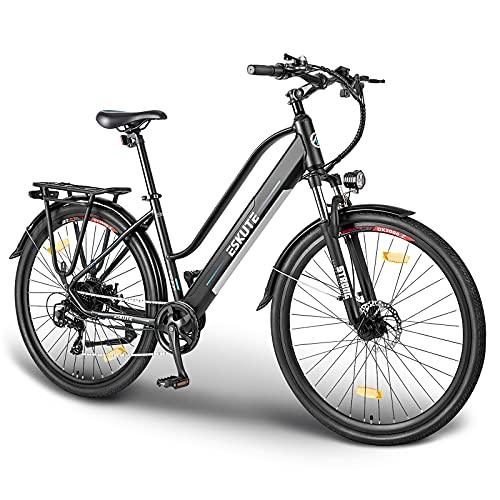 ESKUTE Elektrofahrrad 28 Zoll Pedelec E-Citybike Wayfarer E-Bike mit 36V 10Ah Lithium-Akku, 250W...