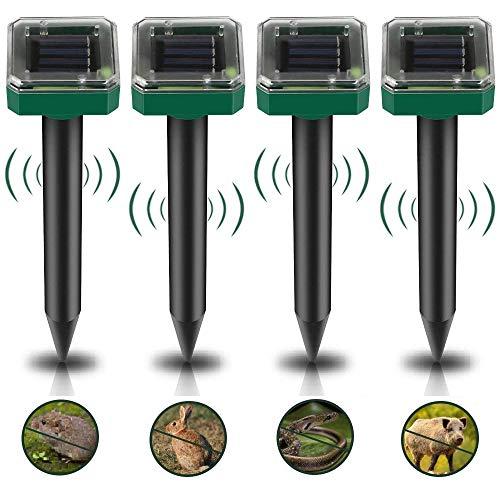 Solar Maulwurfabwehr-4 Stück, Schädlingsbekämpfung, Wasserdicht Solar...