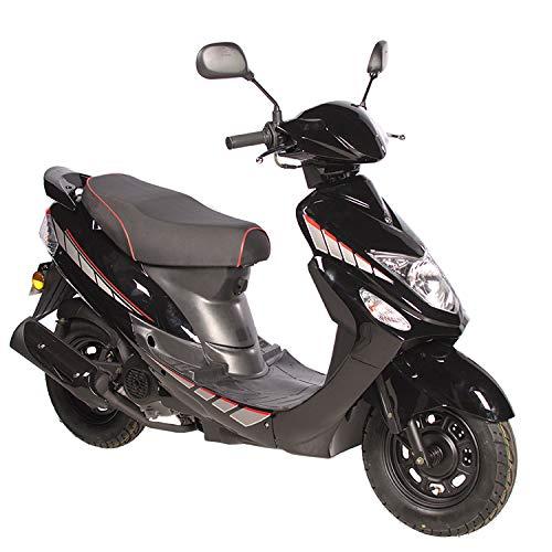 Motorroller GMX 460 Sport 25 km/h schwarz - sparsames 4 Takt 50ccm Mofa mit Euro 4 Abgasnorm