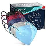 HUHETA FFP2 Maske Bunt, 30 Stück, CE 0598 Zertifiziert, 5-Lagen-Atemschutzmaske mit verstellbarem...