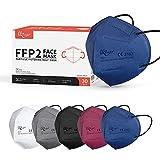 KKmier FFP2 Maske Mundschutzmasken 5 Lage Filterschutz Einweg-Atemschutzmasken Einzel Verpakt 30...