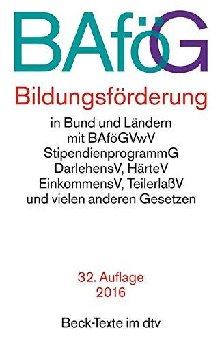 BAföG Bildungsförderung (Beck-Texte im dtv)