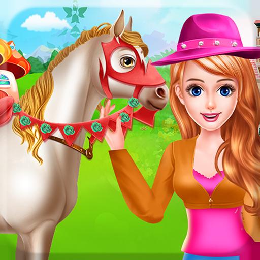 Pferdepflege und Reiten Liebe für Tiere - Ein Spiel, um Ihre Liebe zu Tieren zu zeigen und sich um...