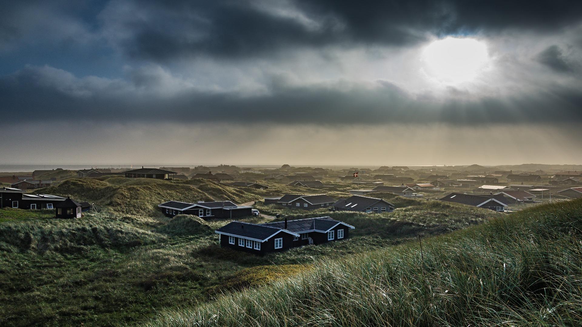Abendstimmung an der Nordsee in Dänemark.